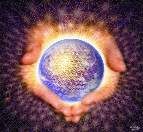 Gaia sacred geometry art